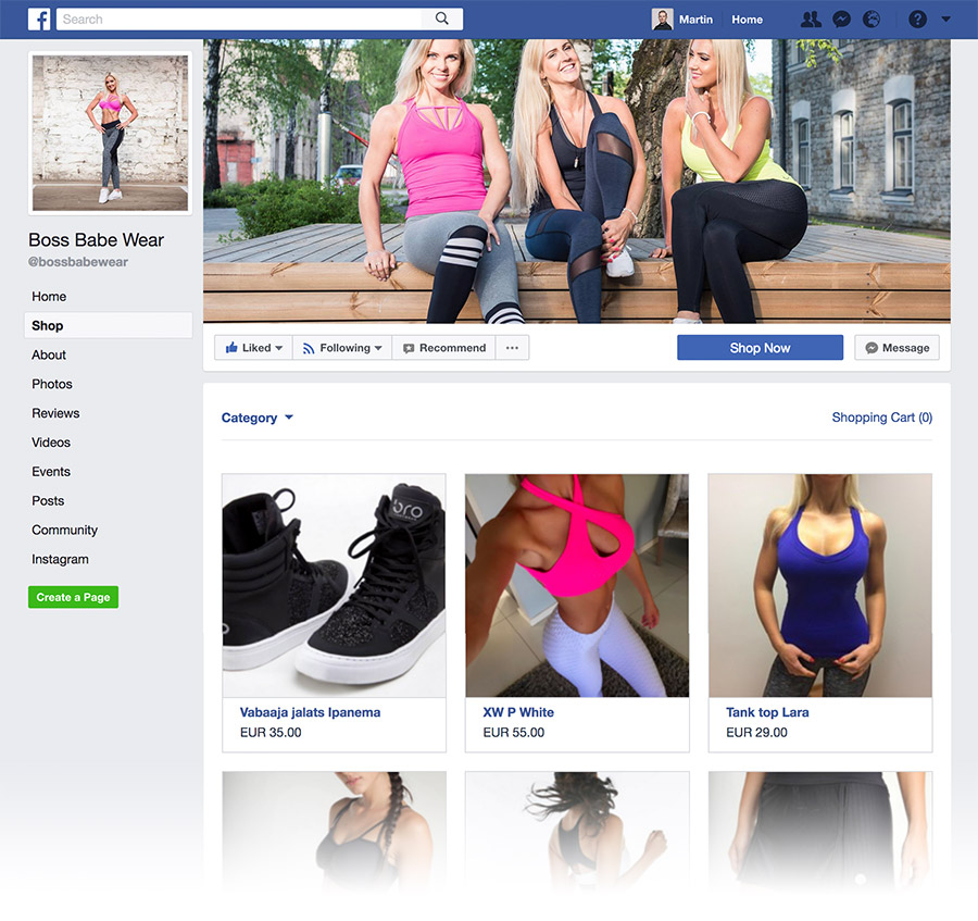 Facebook Store with Shoperb